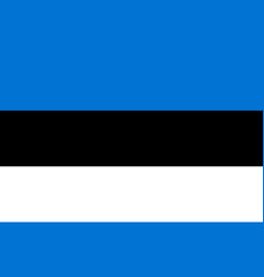 flag in colors of estonia vector image