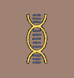 Flat shading style icon human dna vector