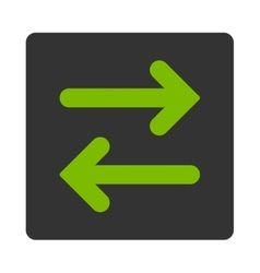 Flip Horizontal flat eco green and gray colors vector