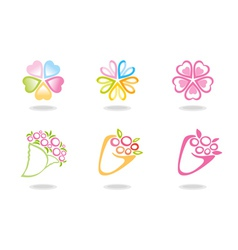 Flowers symbols vector image