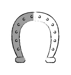 horseshoe lucky isolated icon vector image