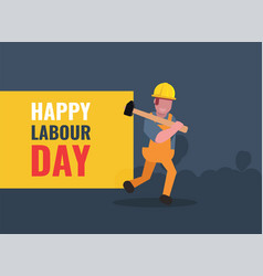 international labour day flat background vector image