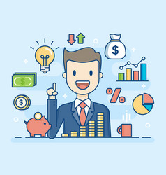 investor smart investment vector image