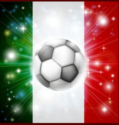 italy soccer flag vector image