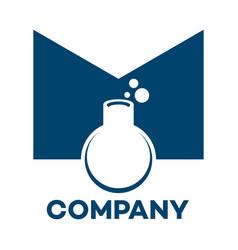lab letter m logo vector image