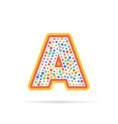 letter a with dots and stroke logo design vector image