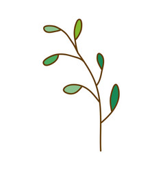 Light colored hand drawn silhouette of branch with vector