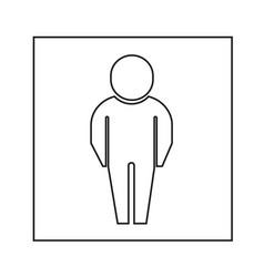 man icon design vector image