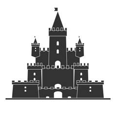 medieval castle simple icon stock flat vector image