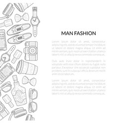 Men fashion banner template with place for your vector