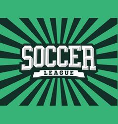 modern professional emblem soccer vector image