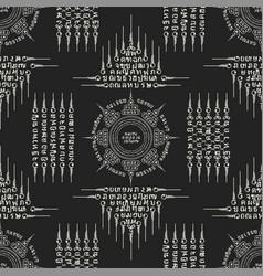 Muay thai white sacred symbol seamless vector