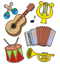 music instruments collection 1 vector image