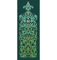 Oriental decorative element Zentangle gold on vector