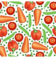 Peas vegetables pattern vector