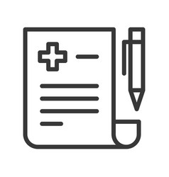 Pen and document prescription hospital related vector