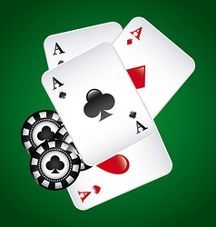 Poker game vector