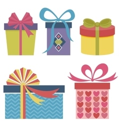 Presents and gifts set vector