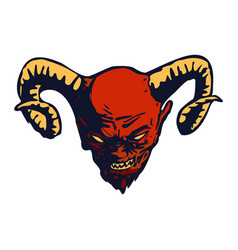 red devil head design vector image