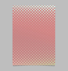 retro gradient heart pattern flyer template vector image