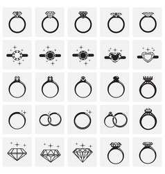 rings icon set on squares background for graphic vector image
