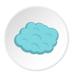Round cloud icon circle vector