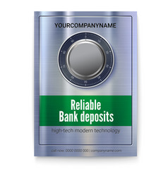 Safety deposit box for storing money poster for vector
