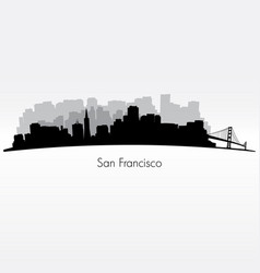 san francisco silhouette skyline vector image