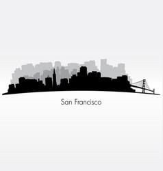 San francisco silhouette skyline vector