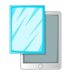 Screen film for tablet icon cartoon style vector