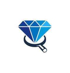 Search diamond logo icon design vector