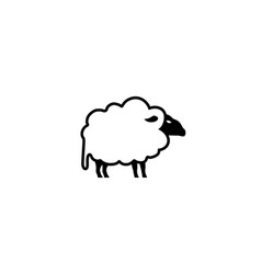 sheep with black head for logo design vector image