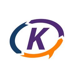 smart solution letter k vector image