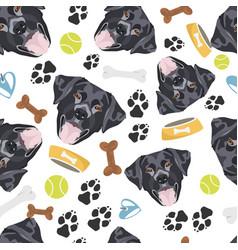 smiling dog black labrador vector image