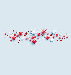 snowflakes stars and baubles vector image