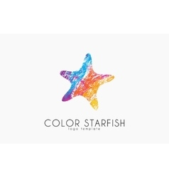 Starfish logo Color starfisg Sea logo Ocean vector image