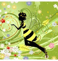 Summer girl fantasy fairy vector