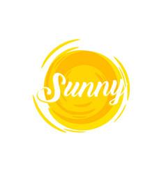 sunshine hot orange sun logo template vector image