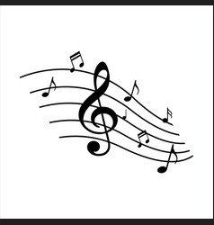 symphony music note design instrumental vector image