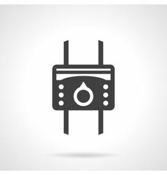Temperature regulator black design icon vector image