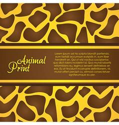 texture of zebra animal print vector image