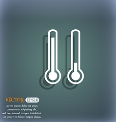 Thermometer temperature icon symbol on the vector