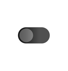 Toggle gadget switch icon flat design style user vector