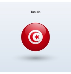 Tunisia round flag vector