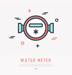 water meter thin line icon vector image