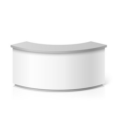 White blank modern reception round information vector