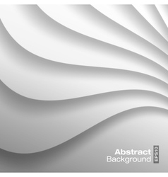 White Wavy background vector