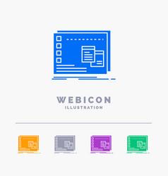 Window mac operational os program 5 color glyph vector