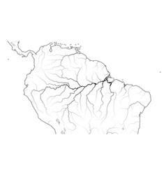 World map amazon selva region in south america vector