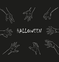 zombie hands halloween backgrounds vector image